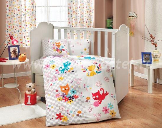 Белое постельное белье с одеялом «MIRMIR» из поплина, детское в интернет-магазине Моя постель