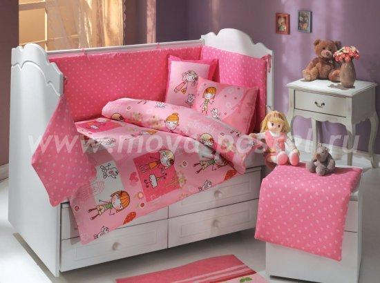 Розовое постельное белье «CITY GIRL» из поплина, детское в интернет-магазине Моя постель