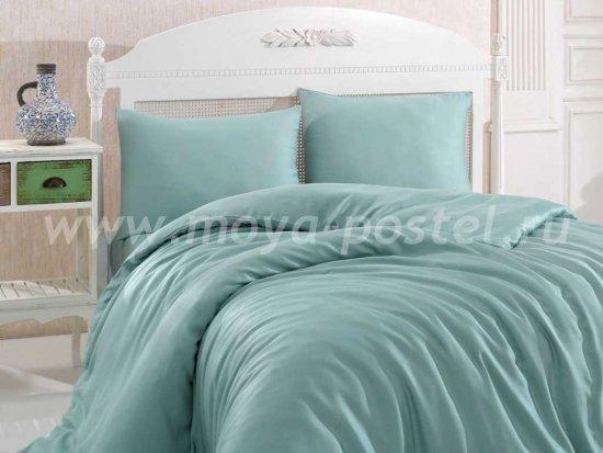 Зелёное постельное белье евро размера «SHINE», бамбук в интернет-магазине Моя постель