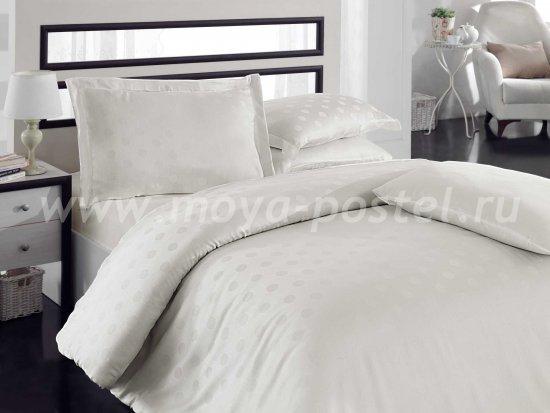 Постельное белье из бамбука «DIAMOND SPOT», кремовое, евро в интернет-магазине Моя постель