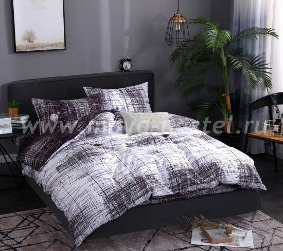 Комплект постельного белья Сатин подарочный AC062, семейный в интернет-магазине Моя постель