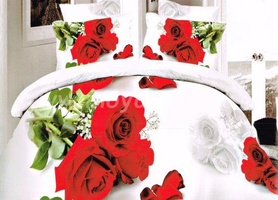 Постельное белье Dream Fly DF04-27 Евро 4 наволочки Микросатин в интернет-магазине Моя постель