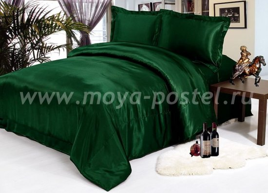 КПБ Изумрудный шелк в интернет-магазине Моя постель