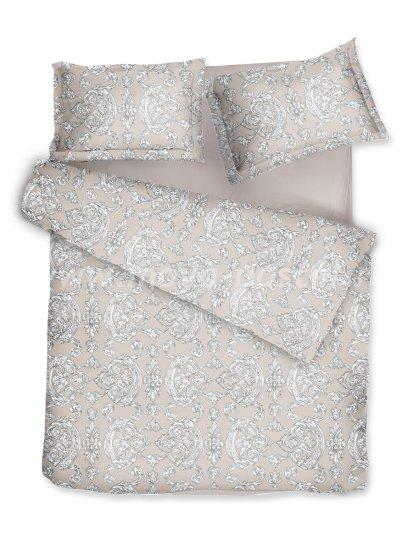 Комплект постельного белья DecoFlux Сатин Евро Victoria Ivory в интернет-магазине Моя постель