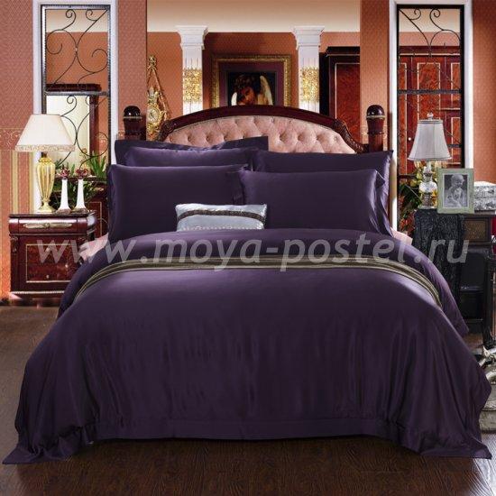 """Шелковый комплект """"Пурпурный"""" , евро в интернет-магазине Моя постель"""