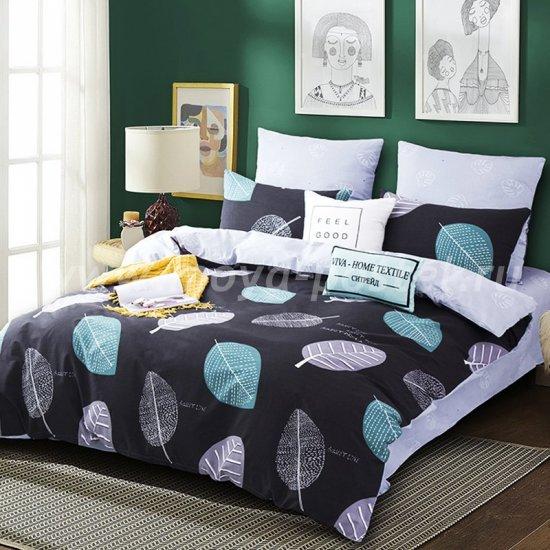 Комплект постельного белья Делюкс Сатин L174 евро размер в интернет-магазине Моя постель