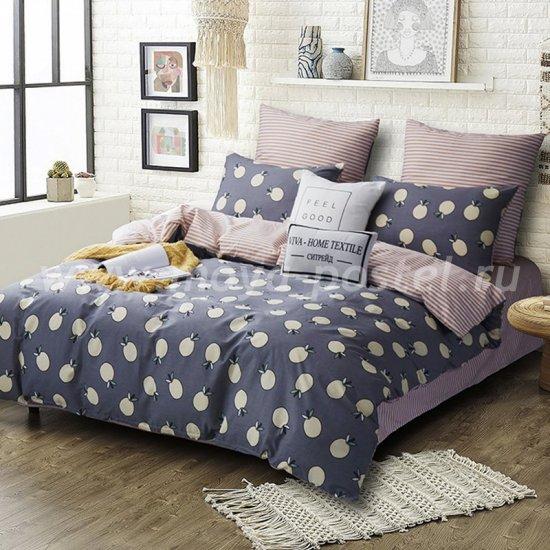 Комплект постельного белья Делюкс Сатин LR184 на резинке евро (180*200) в интернет-магазине Моя постель