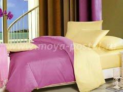 """Комплект постельного белья """"Фиолетово-жёлтый"""" в интернет-магазине Моя постель"""