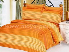 """Постельное белье оранжевого цвета """"Мелкая полоска"""" в интернет-магазине Моя постель"""