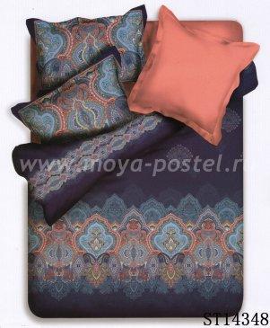 Twill 2 спальный (серые цветы на розовом) в интернет-магазине Моя постель