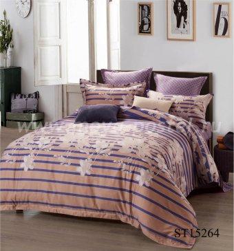 Комплект постельного белья Люкс-Сатин на резинке AR068 (140*200) двуспальное в интернет-магазине Моя постель