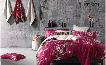 Комплект двуспального постельного белья Люкс-Сатин на резинке AR068 (140*200) 70х70 в интернет-магазине Моя постель
