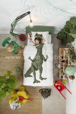 """Постельное белье для подростков """"Тираннозавр Рекс"""", полуторное в интернет-магазине Моя постель"""