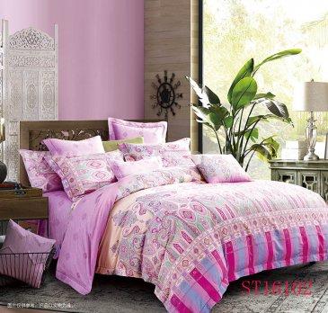 Комплект постельного белья Делюкс Сатин LR160 на резинке 180*200, двуспальное, наволочки 70х70 в интернет-магазине Моя постель