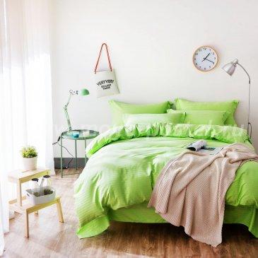 Евро комплект однотонного постельного белья из страйп-сатина CR002 в интернет-магазине Моя постель