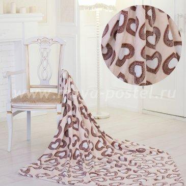 Флисовый плед «Коричневые Сердца» (180х200 см) в каталоге интернет-магазина Моя постель