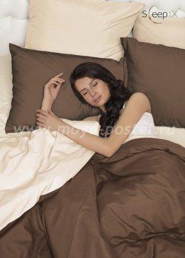 Постельное белье Perfection Цвет: Темный Шоколад + Молочный (2 сп. евро) в интернет-магазине Моя постель