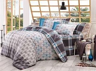 Полутороспальное постельное белье «BELEN» из поплина серое с орнаментом в интернет-магазине Моя постель