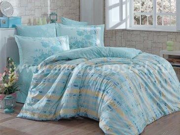 Зеленое постельное белье из поплина «ELENORA» в клетку, полутороспальное в интернет-магазине Моя постель