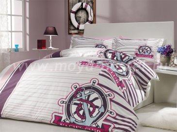 Постельное белье из поплина «SARANDA», лиловое, евро размер в интернет-магазине Моя постель