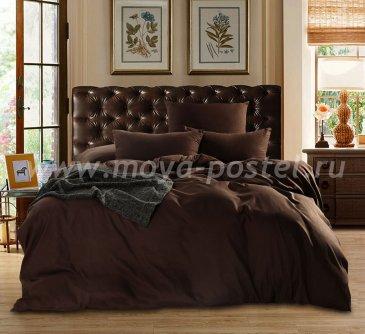 Темно-коричневый комплект постельного белья из сатина CS016 в интернет-магазине Моя постель