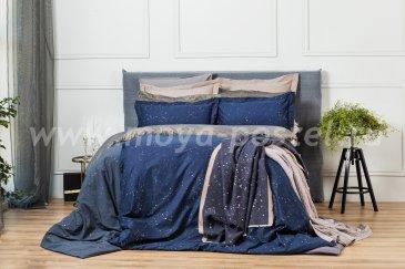 Комплект постельного белья DecoFlux Сатин Семейный Cosmos Dark в интернет-магазине Моя постель