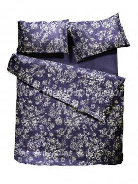Комплект постельного белья DecoFlux Сатин семейный Peony Indigo в интернет-магазине Моя постель