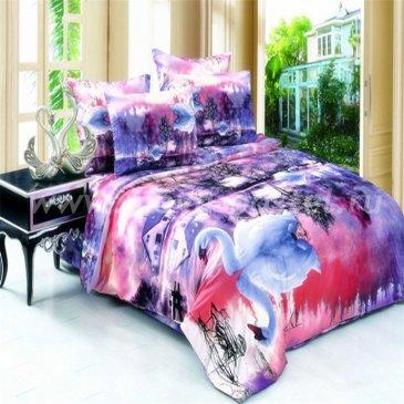 Постельное белье 3D Лебядиная песня D094 (1,5 спальное, 50*70) в интернет-магазине Моя постель