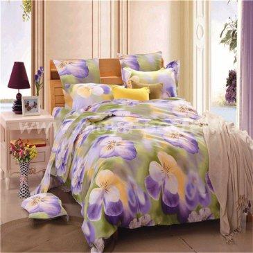 Двуспальный комплект постельного белья делюкс сатин L45 (70*70) в интернет-магазине Моя постель