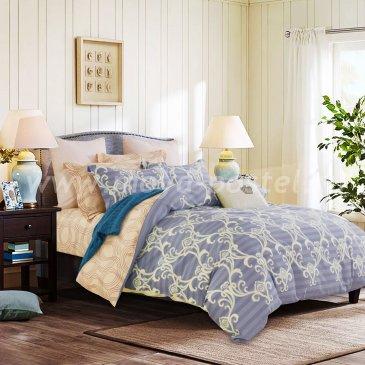 Двуспальный комплект постельного белья делюкс сатин L119 (70*70) в интернет-магазине Моя постель