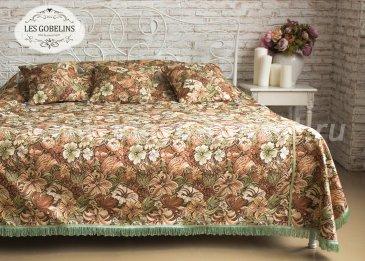 Коричневое покрывало на кровать Art Nouveau Lily, гобелен (260х270 см) - интернет-магазин Моя постель