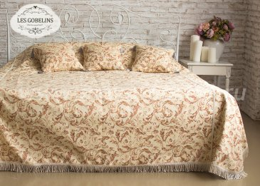 Покрывало на кровать Feuilles Beiges (130х220 см) - интернет-магазин Моя постель