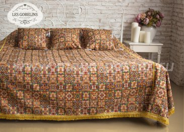 Покрывало на кровать Mosaique De Fleurs (220х220 см) - интернет-магазин Моя постель