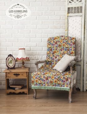 Накидка на кресло Fleurs De Jardin (70х160 см) - интернет-магазин Моя постель
