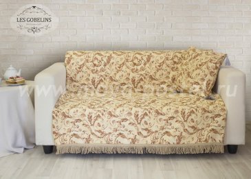 Накидка на диван Feuilles Beiges (130х190 см) - интернет-магазин Моя постель