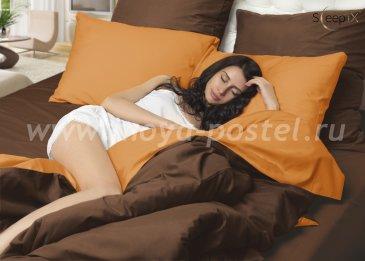 Постельное белье Perfection Оранжевый + Коричневый (1,5 спальное) в интернет-магазине Моя постель