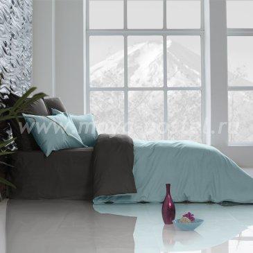 Постельное белье Perfection: Небесно Голубой + Уголь (1,5 спальное) в интернет-магазине Моя постель