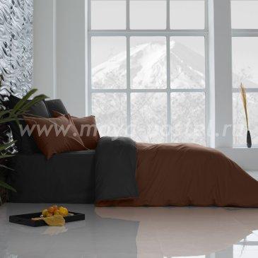 Постельное белье Perfection: Темный Шоколад + Уголь (1,5 спальное) в интернет-магазине Моя постель