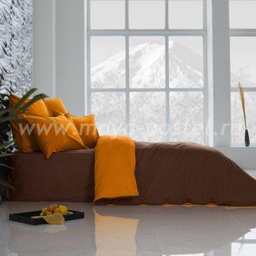 Постельное белье Perfection: Охра + Темный Шоколад (евро) в интернет-магазине Моя постель