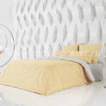 Постельное белье Perfection: Солнечный Абрикос + Туманная Гавань (1,5 спальное) в интернет-магазине Моя постель
