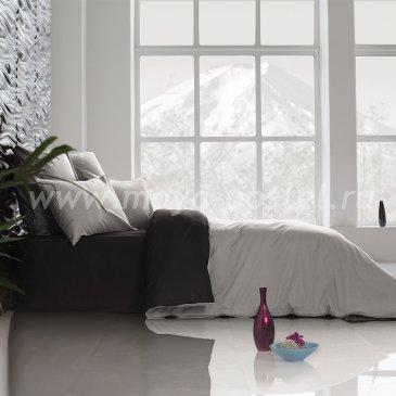 Постельное белье Perfection Цвет: Уголь + Туманная Гавань (1,5 спальное) в интернет-магазине Моя постель