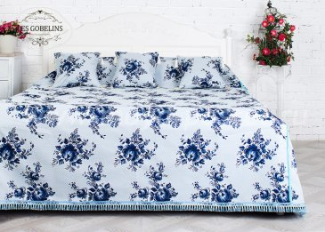 Покрывало на кровать Gzhel (200х220 см) - интернет-магазин Моя постель