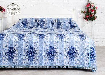 Покрывало на кровать Gzhel (180х220 см) - интернет-магазин Моя постель
