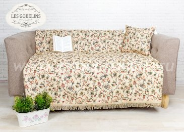 Накидка на диван Fleurs anglais (160х220 см) - интернет-магазин Моя постель