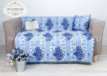 Накидка на диван Gzhel (130х230 см) - интернет-магазин Моя постель
