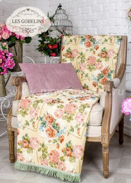 Накидка на кресло Rose delicate (80х150 см) - интернет-магазин Моя постель