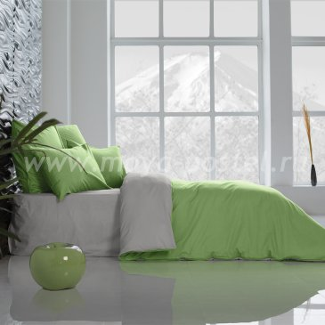 Постельное белье Perfection: Туманная Гавань + Лайм Благородный (1,5 спальный) в интернет-магазине Моя постель