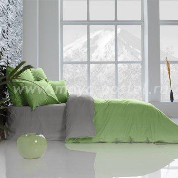 Постельное белье Perfection: Темно-Серый + Лайм Благородный (1,5 спальное) в интернет-магазине Моя постель