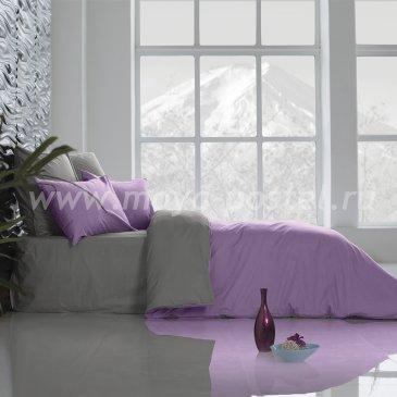 Постельное белье Perfection: Темно-Серый + Розовая Лаванда (1,5 спальное) в интернет-магазине Моя постель
