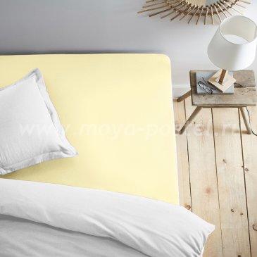 Простыня на резинке светло-желтая (120х200) в интернет-магазине Моя постель